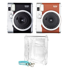 Fujifilm Instax Mini 90 NEO Classic Camera + Crystal Case