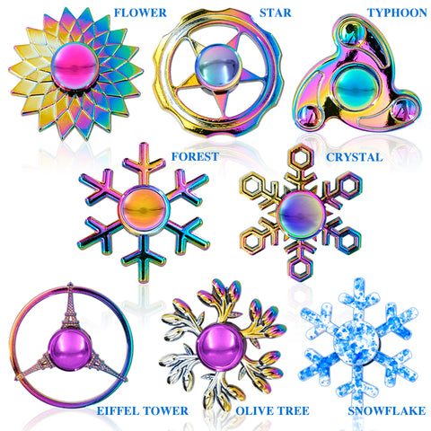 Mini Fidget Finger Spinner Dazzling Hand Gyro for ADHD Autism Stress Relief Focus Toy