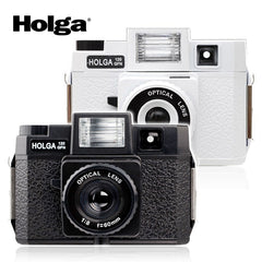Holga 120GFN Medium Format Point & Shoot Film Camera Glass Lens with Built-in Flash