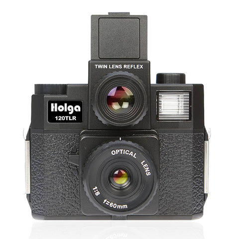 Holga 120TLR Medium Format Twin Lens Reflex Camera with 120 Film - Black