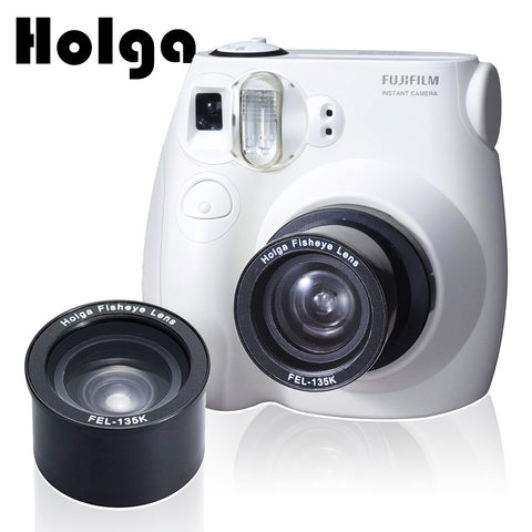 Holga FEL-F7S Fisheye Lens + Adapter Kit for Fujifilm Instax Mini 7s 8 8+ 9 Instant Film Camera