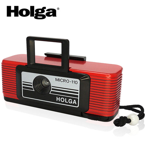 Holga Micro 110 Lomo Compact Camera with Film - Red