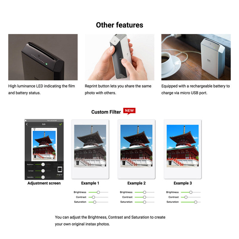 Fujifilm Instax Share SP-2 Smartphone Printer for iPhone & Android
