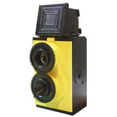 Twin Lens Reflex Camera 35mm TLR Lomo DIY Kit - Yellow Black
