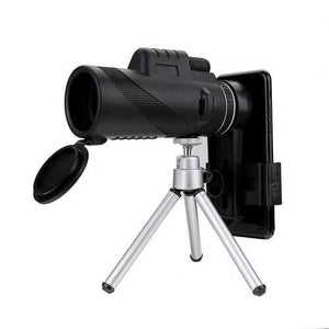 40X60 HD Night Vision Monocular Telescope With Phone Clip Tripod Outdoor Camping Optical Lens Telesc