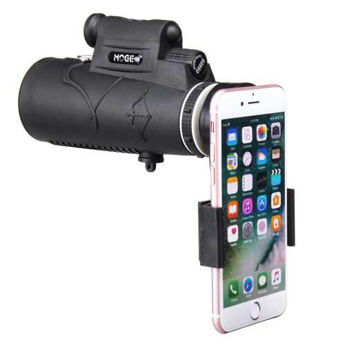 50×60 Outdoor Hiking Camping HD Optics Monocular Telescope Bird Watching With Laser Flashlight Phone