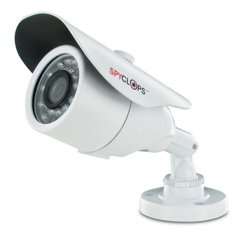 Spyclops SPY-MINIBULLETW Mini-Bullet 24 IR Nightvision LEDs CCTV Camera White