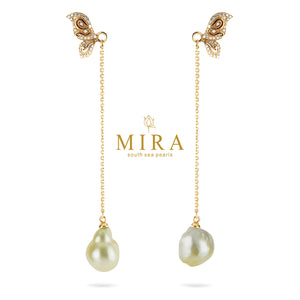 Enchanté Baroque South Sea Pearls 10,9mm Earring