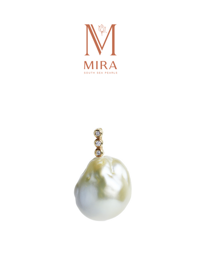 Greenish Nature Baroque South Sea pearls pendant