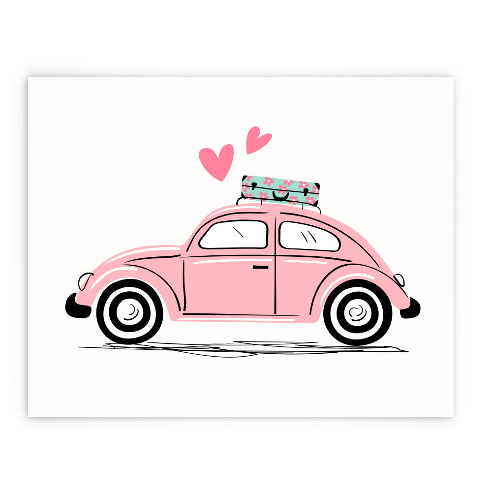 Love Traveling VW Beetle in Pink