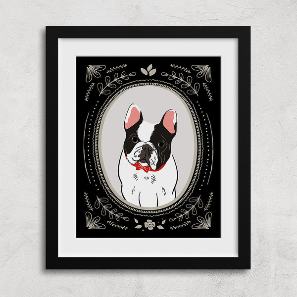 Custom Pet Portrait - vintage style