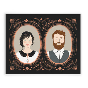 Vintage Custom Couple Portrait