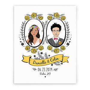 Custom Couples Wedding Portrait