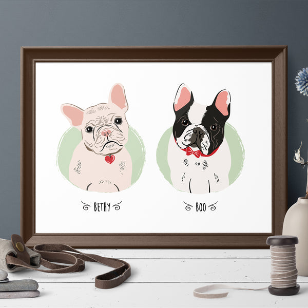 Copy of Custom Pet Portrait - vintage style