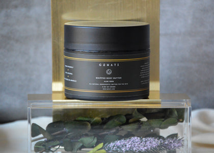organic natural whipped body butter for moisturizing the skin