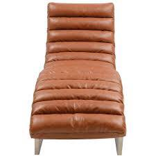 Bauhaus Style Chaise Longue Tan Faux Leather