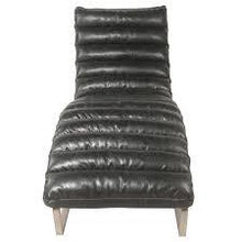 Load image into Gallery viewer, Bauhaus Style Chaise Longue Black Faux Leather