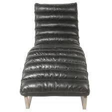 Bauhaus Style Chaise Longue Black Faux Leather