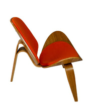 Load image into Gallery viewer, Hans Wegner Shell Chair Ash Wood Red Cashmere