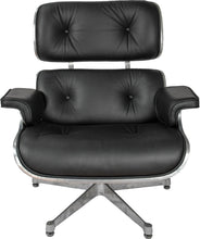 Load image into Gallery viewer, Eames Style Aviator Lounge Chair & Ottoman Real Italian Leather