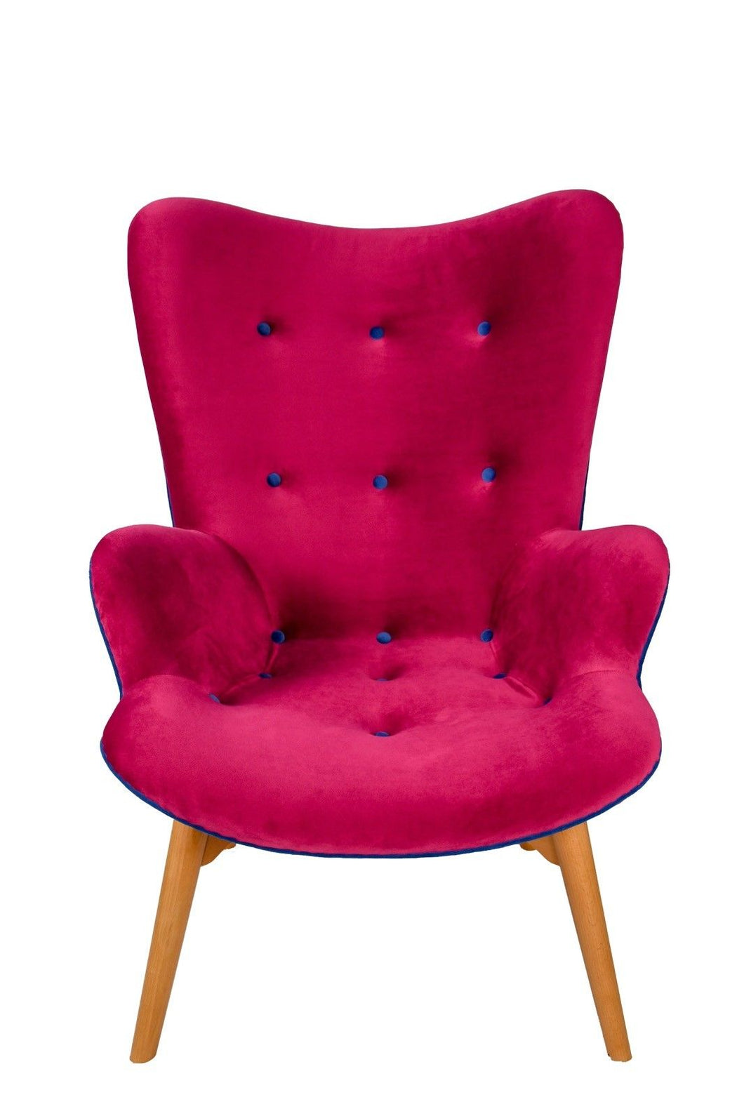Grant Featherstone Style Comtempory Chair Clasic Cerise Velvet