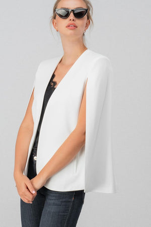 open sleeve cape-blazer