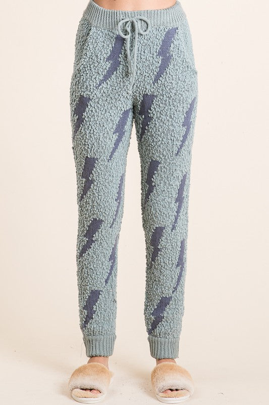 Popcorn lightning bolt pants