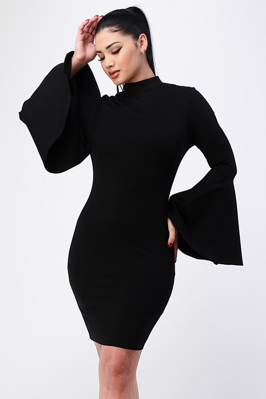 Sexy Bell Sleeve Dress