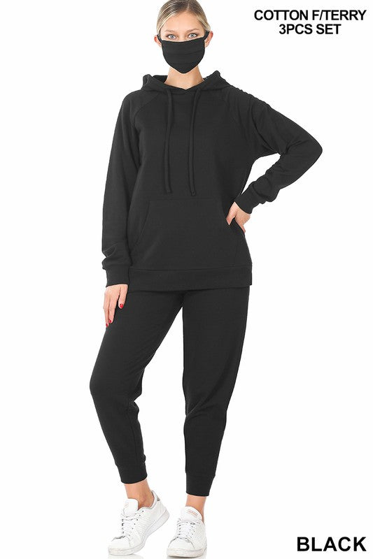 Jogger Hoodie Set w/mask