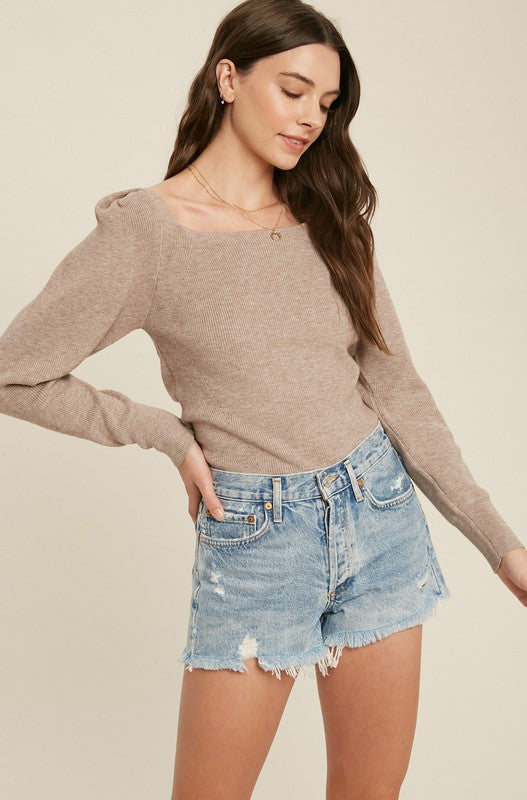 Puff Sleeve fine knit