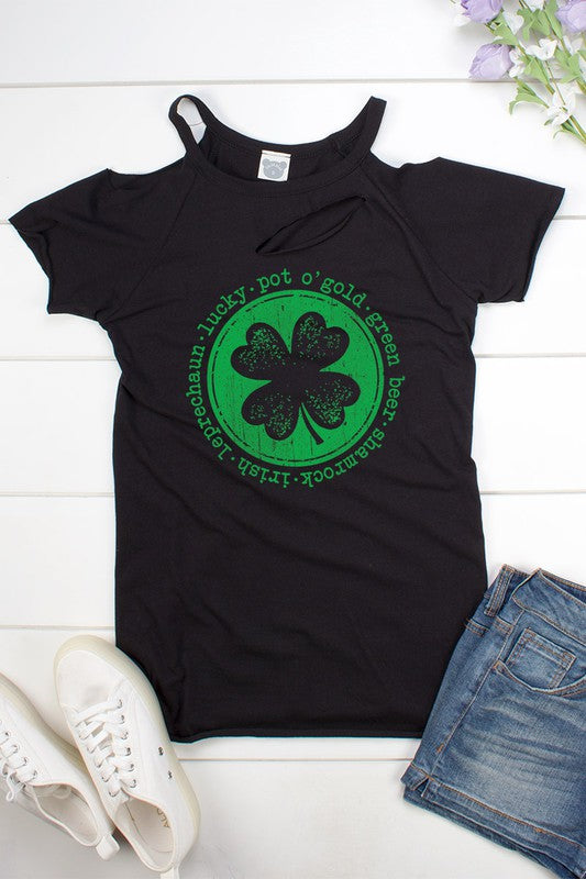 Shamrock cut-out tee