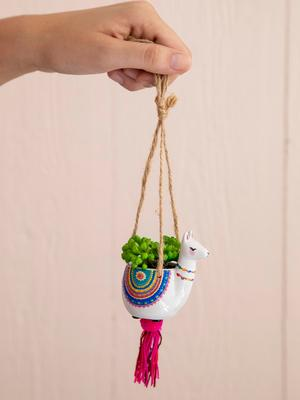 Mini Hanging Decorative Faux Succulent