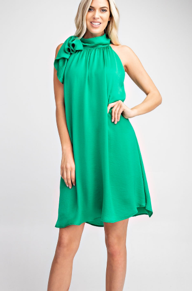 Neck Tie Halter Dress
