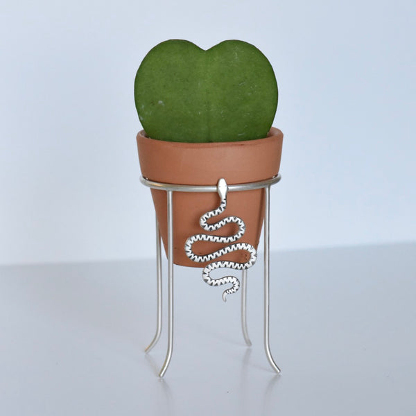 Plant Stand #13 Engraved Snake