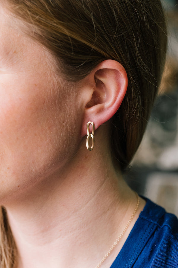 Curb Link Earrings