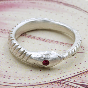RUBY OUROBOROS RING - 7.5