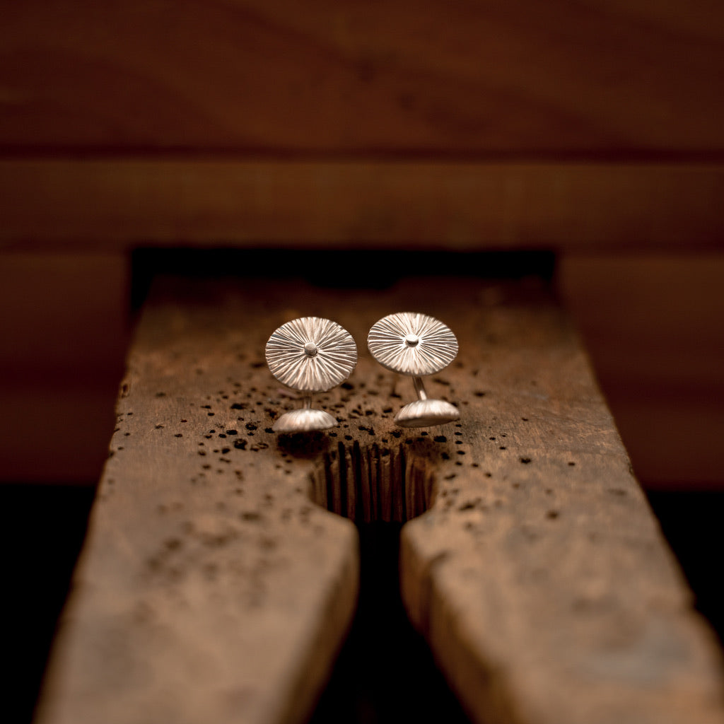 RIVETED ZINNIA STUDS