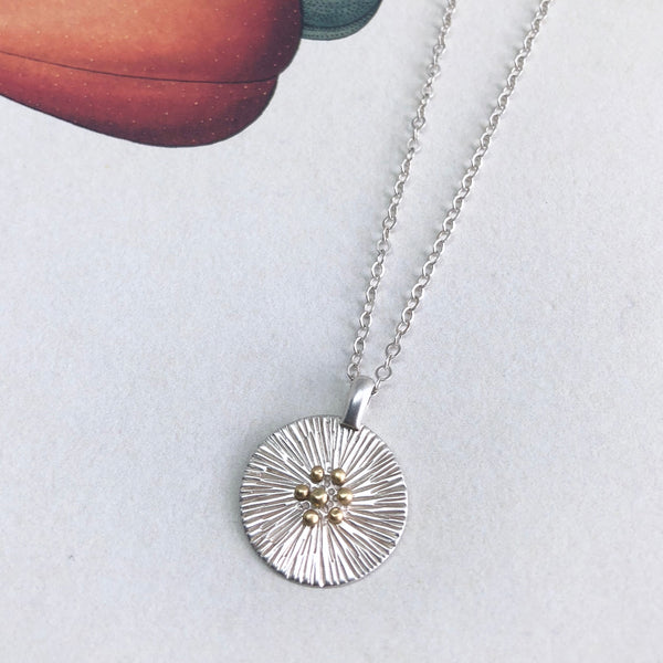 ASTER MEDALLION NECKLACE
