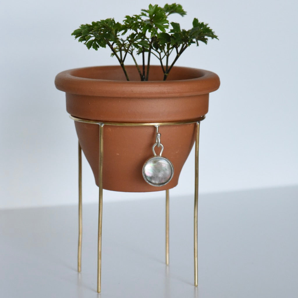 Plant Stand #19 Dark Mother Of Pearl