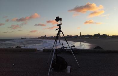 Dutch Skies 360° HDRI skies recording location scheveningen with tripod