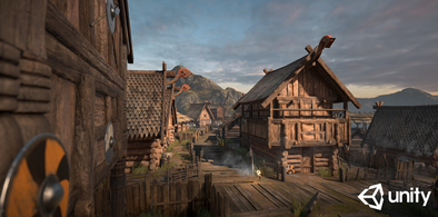 Exclusive Dutch Skies 360° HDRI used in Unity 5 project called Viking Village