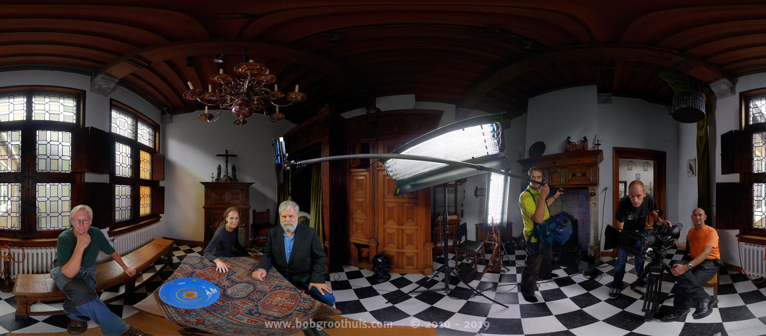 HDRI panorama portret recording from Tim's Vermeer film crew - Part 3 - the (close) Encounters Project