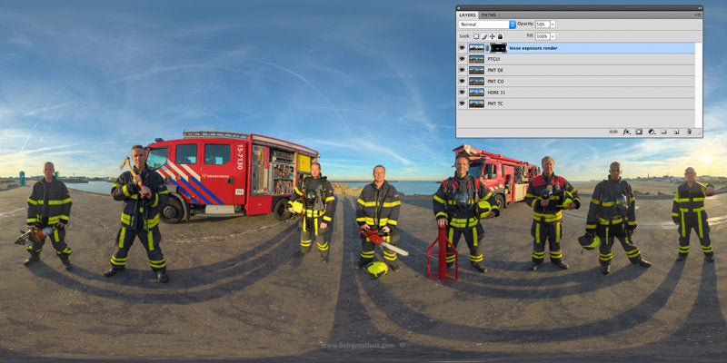 The (close) Encounters Project - Part 13 - Fireman Scheveningen - HDR Panorama portret - Tonemapping & Photoshop