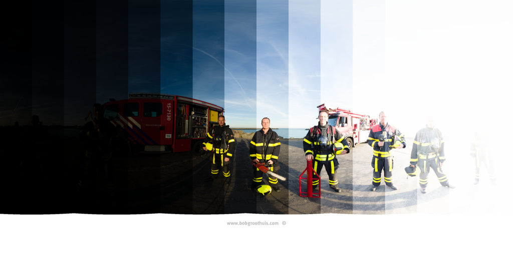 The (close) Encounters Project - Part 13 - Fireman Scheveningen - HDR Panorama portret - Exposures