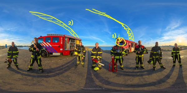 The (close) Encounters Project - Part 13 - Fireman Scheveningen - HDR Panorama portret - Missed opportunities