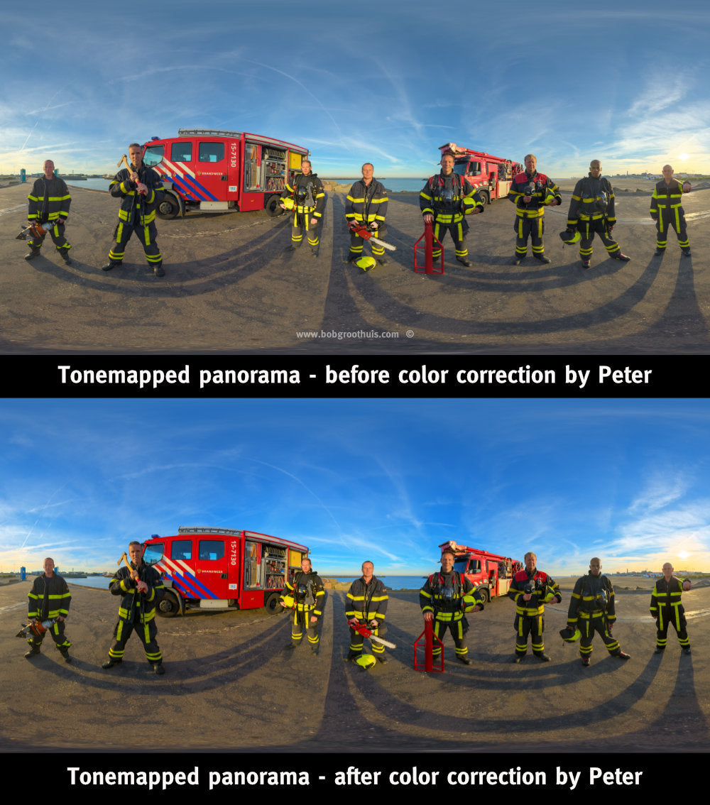 The (close) Encounters Project - Part 13 - Fireman Scheveningen - HDR Panorama portret - Color correcting by Peter