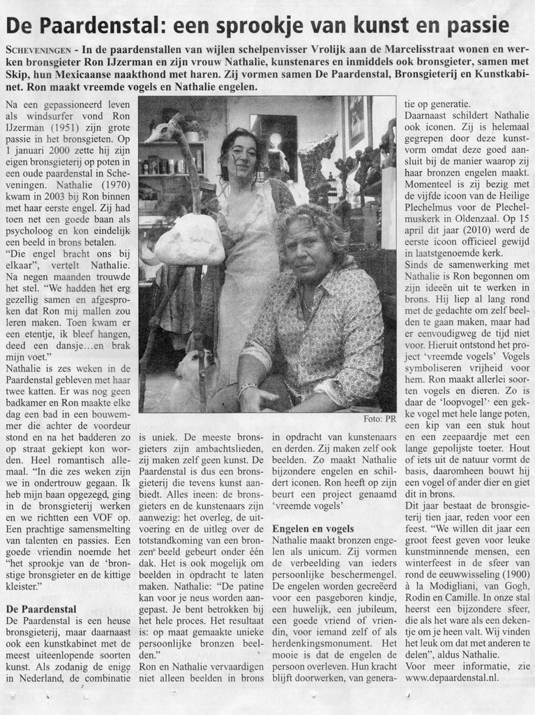 The (close) Encounters Project - Part 07 - Ron & Nathalie - Bronzefoundry & Art Gallery De Paardenstal - The Horse Stable - HDR Panorama portrait  - Scheveningsche Courant article