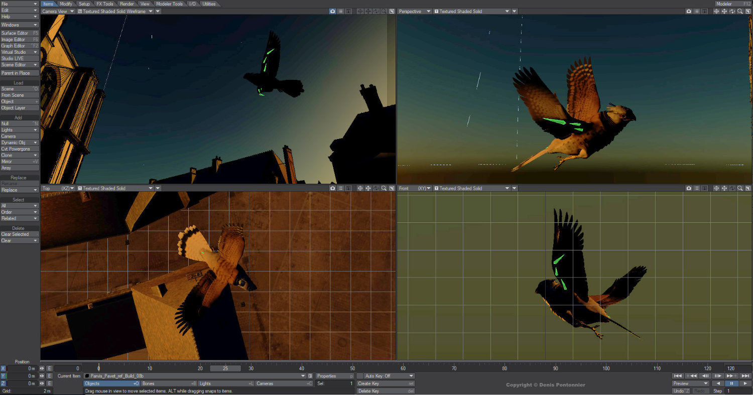 The (close) Encounters Project - Part 17 - Denis Pontonnier - LightWave 3D - Layout Kestrel