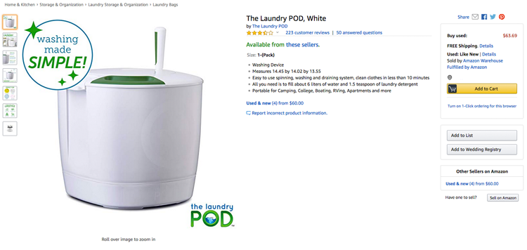 The Laundry POD a alternative to Wonderwash?