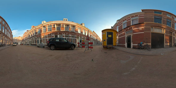 Dutch Free 360° HDRI – 001 | Street scene with cars panoramic version 001c